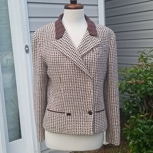 Chanel Tweed Jacket 02P Pink Brown Jacket 42 US 10